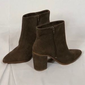 NWT. 1. State brown suede booties. Size 7.5.